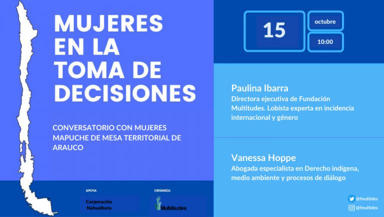 Mesa mujeres mapuche